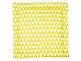KraftKids GDW112-60 Wickelauflage in gelbe Dreiecke, Wickelunterlage 60x70 cm (BxT), Wickelkissen, mehrfarbig, 640 g
