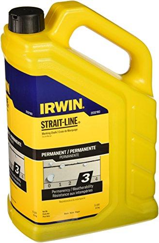 IRWIN Tools STRAIT-LINE 2032160 Permanent Marking Chalk, 5-pound, Black (2032160)
