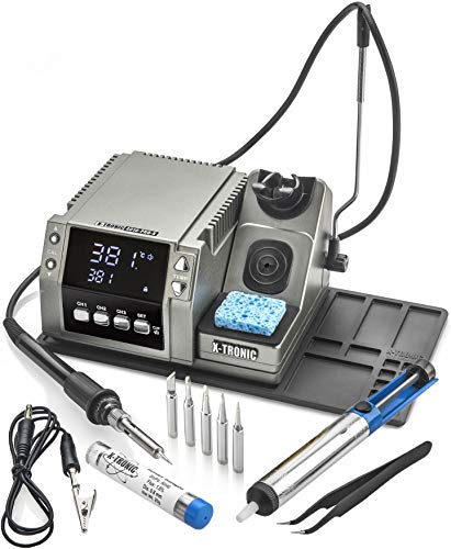 "X-Tronic 4010-PRO-X • State of the Art •""Platinum Series"" • 75 Watt Soldering Iron Station • Features a Calibration Func, 0-30 Minute Sleep Func, C/F Func, Unit Lock Func and 3 Temperature Presets!"
