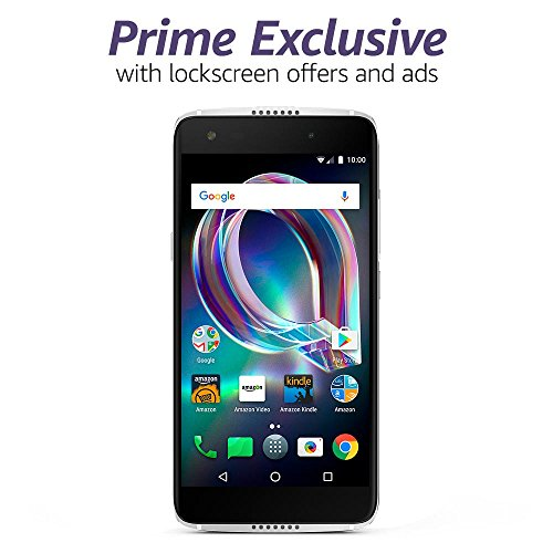 Alcatel Idol 5S - 32 GB - Unlocked (AT&T/Sprint/T-Mobile/Verizon) - Crystal Grey - Prime Exclusive - with Lockscreen Offers & Ads