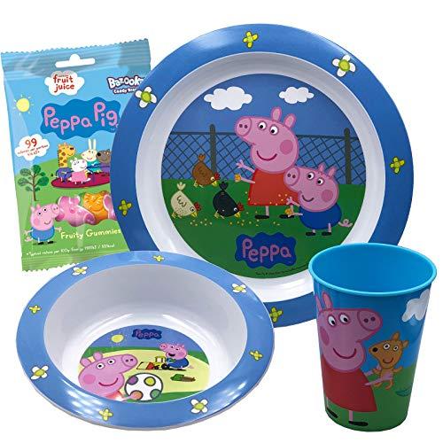 JuniorToys Peppa Pig - Set de regalo con gominolas de fruta, diseño de Peppa Pig