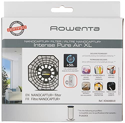 Rowenta xd6086nanocaptur Filtro formaldehído Remover para PU6020y PU6010Intense Pure Air purificador de XL