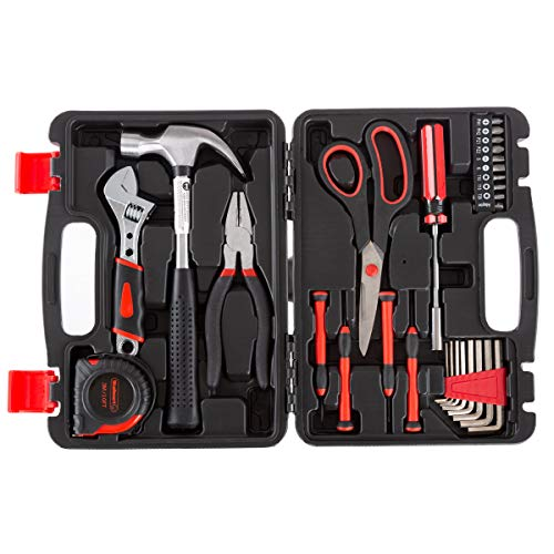 Stalwart Tool Kit - 28 Heat-Treated Pieces with Carrying Case - Essential Steel Hand Tool and Basic Repair Set for Apartments, Dorm, Homeowners