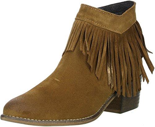 G\'FIELD Damen Ankle Boots Fransen Ethno-Look braun, Größe:37;Farbe:Braun