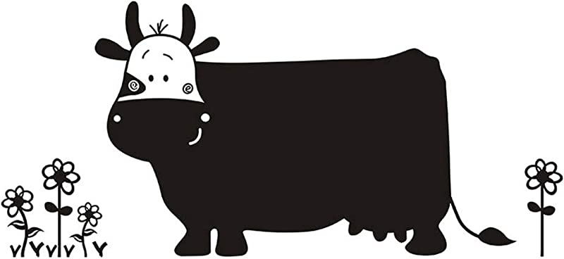 Winhappyhome Big Cow Blackboard Sticker Wall Art Stickers For Kids Bedroom Living Room TV Nursery Background Removable Mural Decor Decals