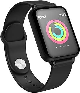 FUN+Smartwatch Reloj Impermeable para Rastreador De Actividad, Podómetro Resistente Al Agua con Monitor De Frecuencia Cardíaca Relojes Inteligentes, Pulsera De Empuje De Información para Android/iOS
