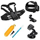 SHOOT Action Camera Accessories Kit for GoPro Hero 9/Hero 8 Hero 7 Hero (2018)6/5/4 GoPro Hero Session SJCAM AKASO APEMAN Xiaomi Yi WiMiUS Sony Sports Camera