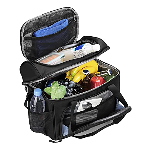 F40C4TMP Extra Large Lunch Box, Duffel Soft Sided Cooler Bag, 36 Cans 23 Liters 2 Compartments Large Lunch Box Bag for Men Insulated Portable Luggage Travel Bag for Adult Work Travel Weekends