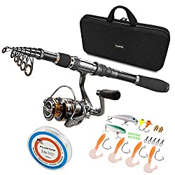 Plusinno Telescopic Fishing Rod and Reel Combo Full Kit - Best Telescoping Fishing Rods