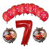 ENXI Globos Mcqueen Ellos 1 Set Autos Lightning 32 Pulgadas Números Balloon Set 13pcs / Set Movilización de automóviles Baby Boy Cumpleaños Fiesta de decoración Suministros ( Color : Camouflage )