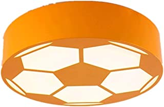 MAMINGBO Plafonnier pour enfants MAMINGBO LED, lampe de football moderne Accessoires Chambre d'enfant (Couleur : Orange, T...
