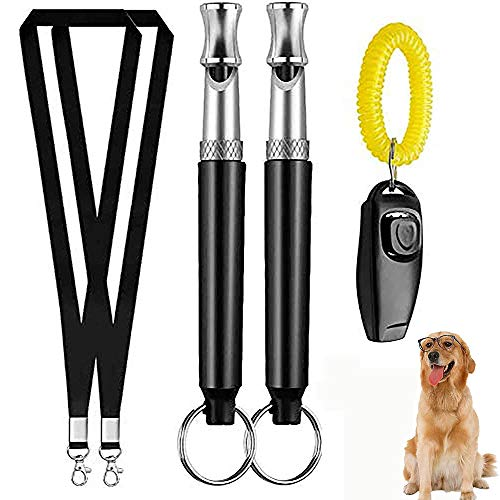 Wondery Ultrasonic Dog Whistles with Clicker, Including Dog Training Tool Guide, Adjustable...