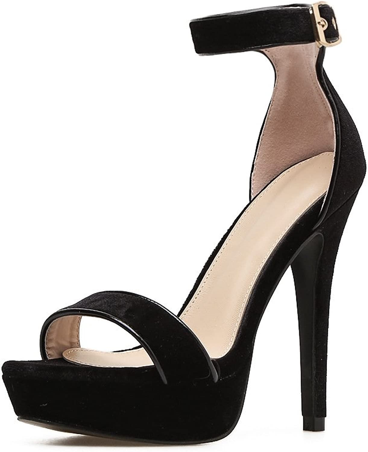 Waterproof Taiwan high-heeled sandals Women's Summer new thin and flat with balcony and sexy night high-heel shoes