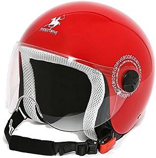 MOMO Design 10010040214 CASCO DEMI JET FIGHTER FLUO ARANCIO FROST NERO TAGLIA M