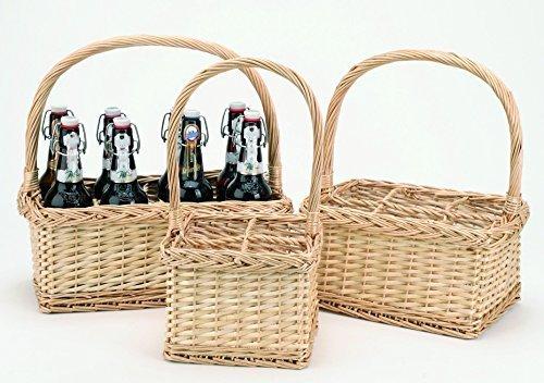 KretaNatura Bierkörbe aus Weide (8 Flaschen)