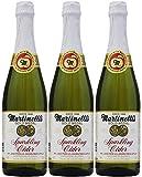 Martinelli's Sparkling Apple Cider Juice, 25.4oz Glass Bottle (Pack of 3, Total of 76.2 Fl Oz)