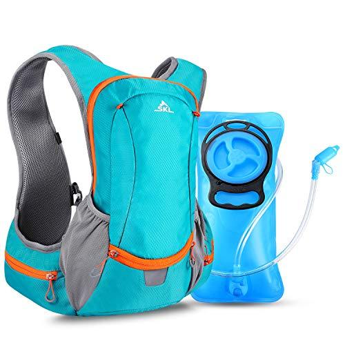 SKL Trinkrucksack mit Trinkblase 2L Trinksystem Isoliert Wanderrucksack Hydration Rucksack Fahrradrucksack Trinkbeutel BPA-frei für Wandern Klettern Radsport Camping Trekking Outdoor Multifunktion