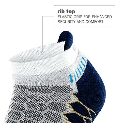 Balega Silver Antimicrobial No-Show Compression-Fit Running Socks for Men and Women (1 Pair), Midgrey/Aqua, Medium