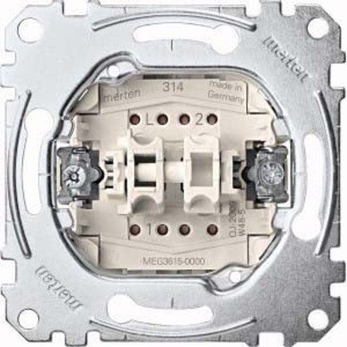 Merten MEG3615-0000 Serienschalter-Einsatz, 1-polig, 16 AX, AC 250 V, Steckklemmen