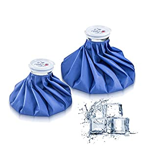 Ice Bag Packs of 2 - Reusable Hot & Cold Packs in 2 Sizes (9/11 inches) by Shanghai LG IMP&EXP CO.,LTD