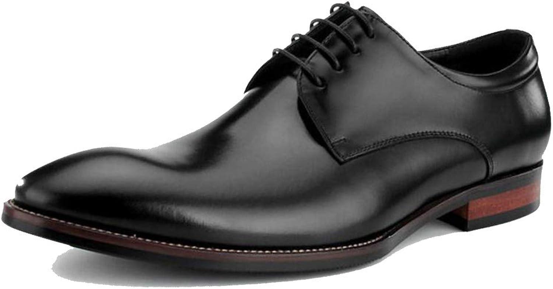 GGLZMMF Gentleman Derby Kleid Schuhe Herren Herren England Schuhe Business Formal Wear Atmungsaktiv Handgefertigte Hochzeitsschuhe Dunkelbraun Braun Schwarz  authentisch