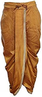 Indian Cultural Ethnic brown silk Stitched Dhoti
