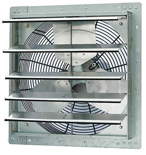 "Iliving 18"" Single Speed Wall Mount Shutter Exhaust Fan (Certified Refurbished)"