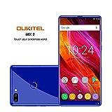 Oukitel Mix 2 Handy ohne Vertrag (5.99 Zoll) Smartphone (18:9 Verhältnis Vollbild) 6GB RAM 64GB ROM 4080mAh Batterie-Blau