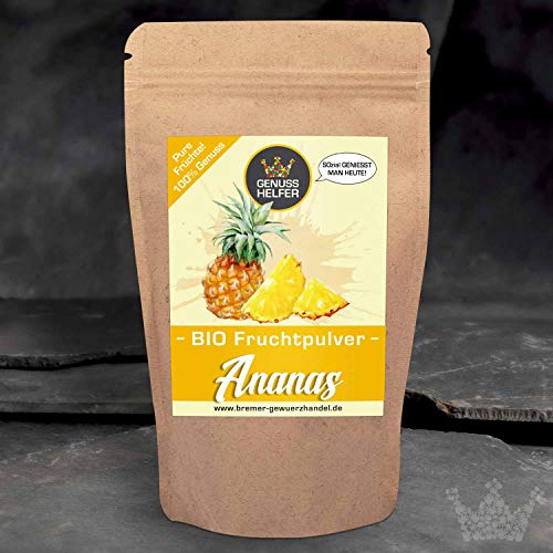 Bio Fruchtpulver Ananas - Ananaspulver 75 Gramm - ausgewogene Ernährung - Smoothies - Shakes - Müsli - Bowls