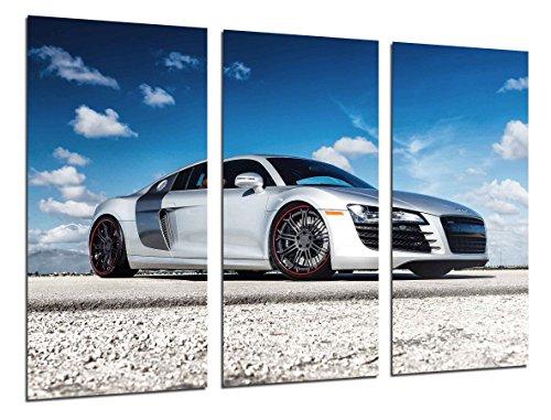 Cuadros Camara Poster Fotográfico Coche Deportivo Audi R8 Tamaño total: 97 x 62 cm XXL, Multicolor