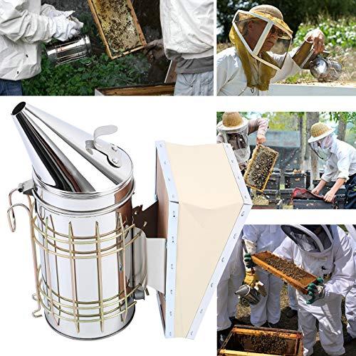 Yonntech Imker Set Bienenzucht Werkzeug Hive Smoker Bienenzucht Raucher, Edelstahl - Imkereibedarf for Bienen Volk Edelstahl Smoker und Stockmeißel