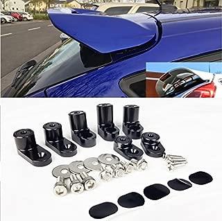 VXMOTOR Rear Wing Spoiler Riser Extender Kit - Black for 2013+ Ford Focus ST 4Dr Hatchback 2014 2015 2016