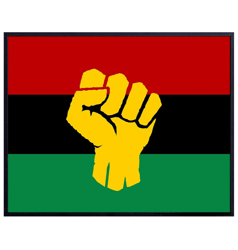 African American Black Power - Manufacturer regenerated product Afro L Fees free Flag