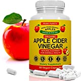 100% Organic Raw Apple Cider Vinegar Capsules - Natural Detox Gut Cleanse &...