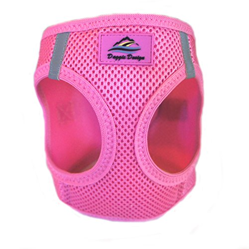 DOGGIE DESIGN American River Choke Free Dog Harness - Size Small - Candy Pink