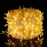 Elegear Luces Navidad Exterior, Cadena de Luces 500 LEDs 100M IP44 Impermeable 8 Modos Flash, Guirnalda Luces Decorativas para Navidad, Fiestas, Bodas, Dormitorio, Jardines, Bar(500LEDs*100M)