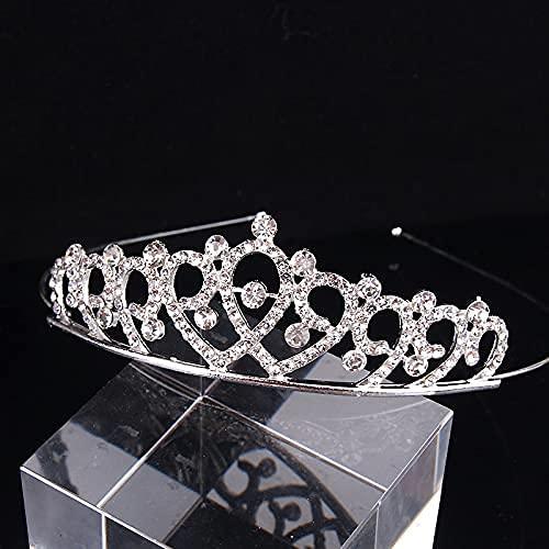 Tiara Corona de Cristal con Diamantes de imitación Peine para Corona Nupcial Proms de Boda desfiles Princesas Fiesta de cumpleaños,Mujer Partido decoración en cumpleaños-A13