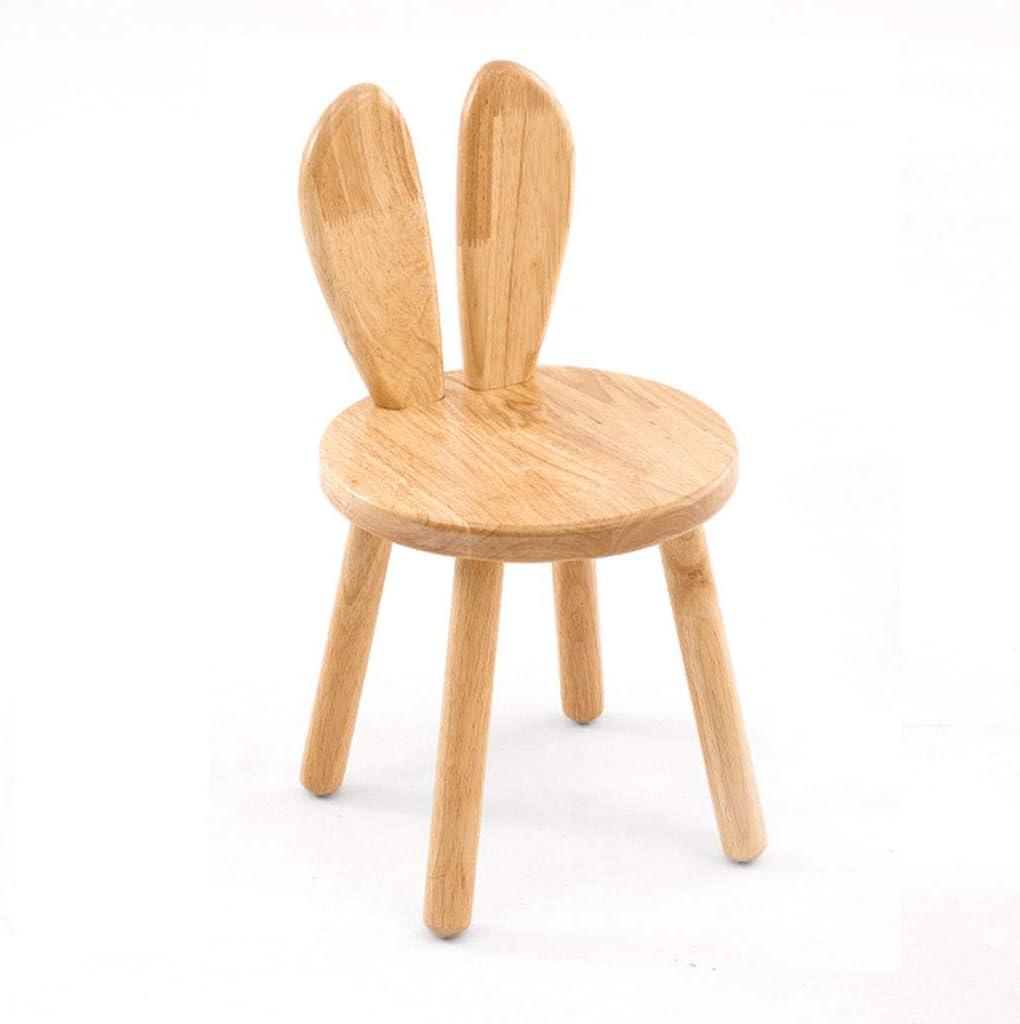 WJHCDDA Tabourets et poufs Petit banc tabouret à changement de chaussures Chaise de salle à manger Dossier Famille (Couleur : Oreille courbée) Oreille Droite.