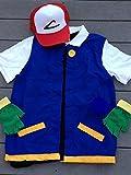 Pokemon Trainer Costume - Adult Unisex Big & Tall - 2X, 3X, XXL - Ash Ketchum Cosplay Costume -