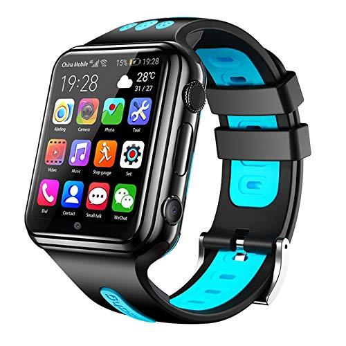 FUNSHINNY 1.54 Pulgadas Pantalla de Ajuste Completo de la Pantalla Dual Cámaras Smart Phone Watch Rastreadores de Fitness, Soporte de Tarjeta SIM/Seguimiento de GPS/Trayectoria en Tiempo Real/Mo