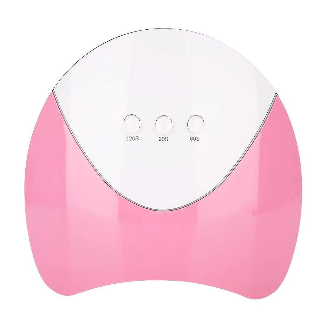 上がる有利低下UV LEDネイルドライヤー 光線療法マシン 36WのUV ハイパワー UV と LEDダブルライト ジェルネイル用 3タイマー インテリジェントな(ピンク)