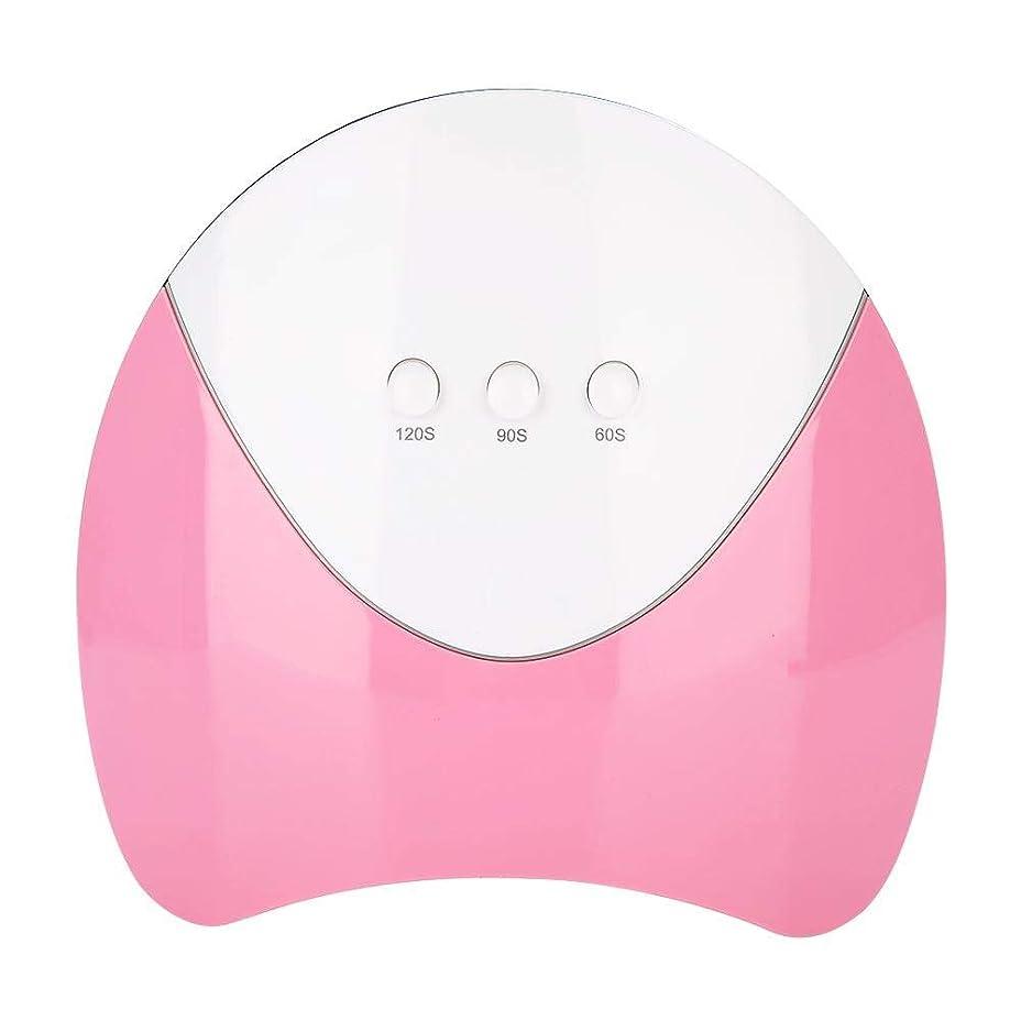 思いやりのある対話住人UV LEDネイルドライヤー ジェルネイル用 36W UV ハイパワー UV&LED ダブルライト 硬化ランプ 3タイマー 自動センサー (ピンク)