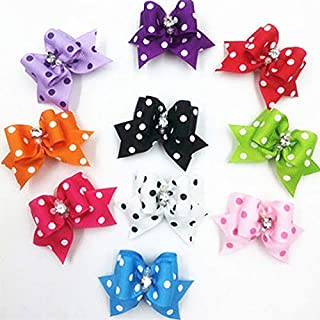 DORLIONA 10PCS 6cm Pet Cat Dog Hair Rubber Band Multicolor Grooming Hair Accessories