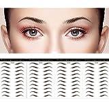 DAGEDA Brown 40 Pairs 4 PC 4D Eyebrow Transfers Stickers, Long Lasting Natural Waterproof Bionic Eyebrow Water Transfer Tattoo Eyebrow Sticker For Woman Man Makeup Tool(#ZX-008)