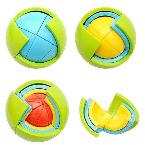 Yuzhijie Bloques de construcción intelectual de la diversión y la educación de la bola de juguete 3D intelectual laberinto de la bola de juguete
