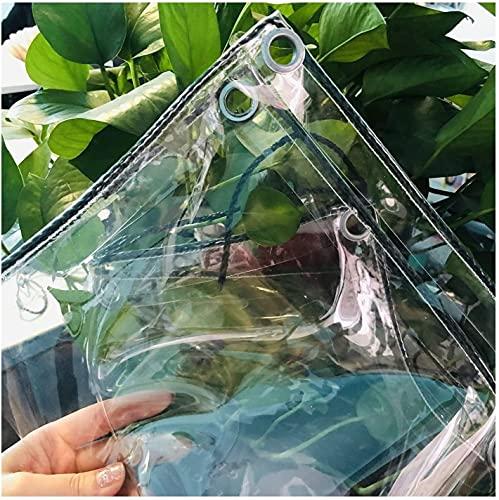 N\A ZHANGQINGXIU Lonas Impermeables Exterior,Lona Tela De Plástico De PVC Resistente Al Agua Transparente, Resistente, para Exteriores, Cortina De Lluvia Perforada De 0,3 Mm, 52 Tamaños