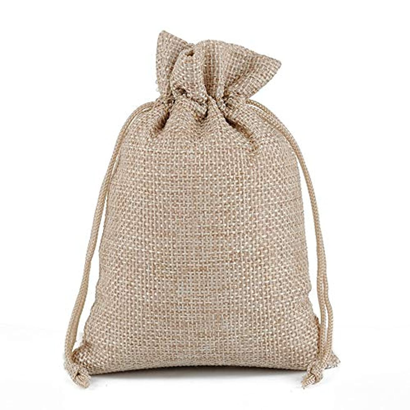MELUOGE Burlap Bags Cotton Linen Bags Jewelry Treasure Pouches 6