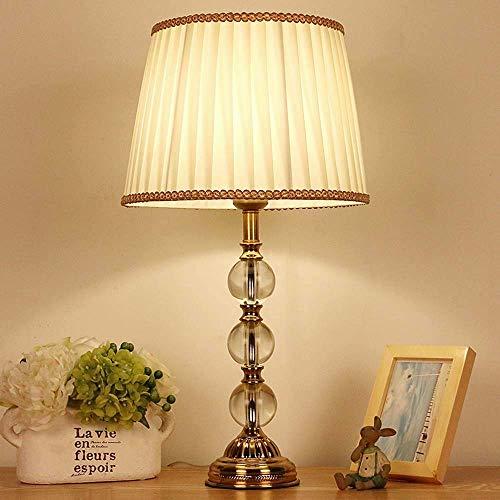 nakw88 Lámpara de Mesa E26 Simple Sala de Estar Dormitorio lámpara de Noche lámpara de Mesa de Cristal de Tela 45 * 17 * 17 cm (Color:a) (Color : B)