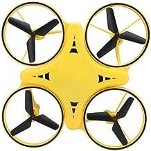 Cxp Boutiques Día de los niños Reloj de Regalo Control Remoto de Cuatro Ejes Inducción anticolisión Dripping Drone ( Color : Yellow )