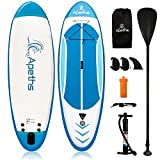 Inflatable Paddle Boards, 8'/10'/12' SUP Paddle Board for Adults & Youth, Stand up Paddleboard, Ultra-Light Accessories, Backpack, Non-Slip Deck (10'10'x30'x6')